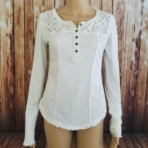 Free People Blouse Top S White